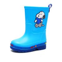 史努比童鞋儿童雨鞋男童四季中大童防滑胶鞋小孩中筒雨靴宝宝水鞋