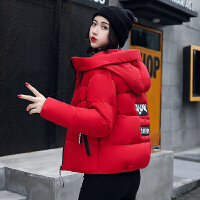 新款韩版修身百搭连帽短款棉衣女装短外套冬季小棉袄羽绒反季