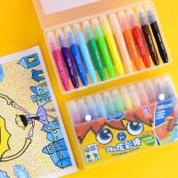 马可1530 12色24色油画棒油化棒油棒棒棒彩笔涂鸦画笔 旋转可水洗炫彩棒儿童腊笔彩色蜡笔套装