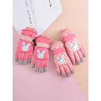 儿童滑雪手套冬季3-12岁可爱卡通加绒加厚棉保暖男童女童宝宝冬天