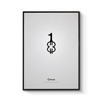 现代简约电影海报客厅装饰画北欧风格玄关艺术壁画组合画创意字母 70x100cm嵌框 单幅价格 黑色