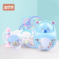 不倒翁套装婴儿玩具摇铃牙胶幼儿磨牙0-3-6-12个月宝宝