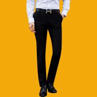 男士西裤微修身薄款商务休闲宽松中青年职业西服裤子男正装裤