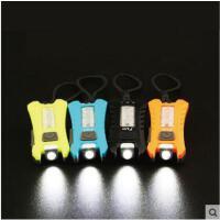 精致高亮USB迷你家用户外背包灯钥匙灯LED强光小手电筒可充电