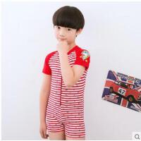 男女童泳衣韩国宝宝中大童短袖可爱儿童连体动画速干游泳装