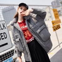 [2.5折价260元]唐狮女款冬季时尚羽绒服女新款中长款韩版潮茧型羽绒服女鸭绒