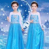 万圣节服装儿童冰雪奇缘艾莎公主裙cosplay装扮演化妆舞会演出服