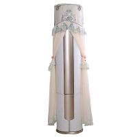 格力美的空调柜机罩圆形开机不取i享立式圆柱空调套倾城3p防尘罩・