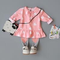 女童春装套装0-1-2-3-4岁婴儿衣服婴幼儿外出服宝宝