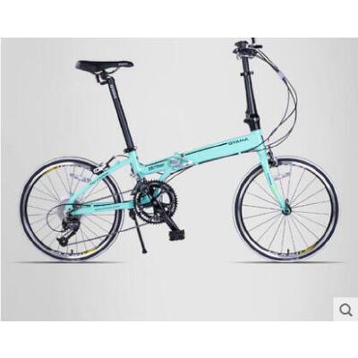 自行车轻盈舒适户外休闲男女式单车20寸铝合金变速折叠自行行车7速