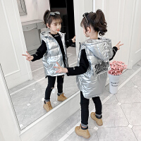 女童马甲冬季外穿冬装洋气羽绒棉儿童坎肩潮