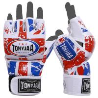 拳击手套半指拳套MMA分指UFC格斗沙袋手套 TUFC02超纤皮搏击手套-蓝白红