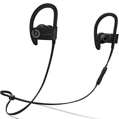 【当当自营】Beats Powerbeats3 by Dr. Dre Wireless 无线蓝牙 运动耳机 入耳式耳机-黑色 ML8V2PA/A Beats运动耳挂_运动依旧可以潮流