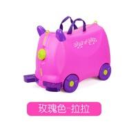 儿童旅行箱宝宝行李箱可骑可坐拖拉小孩拉杆箱玩具登机 18寸