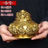 纯铜五路财神聚宝盆摆件风水乔迁开业礼品 收银台摆设品