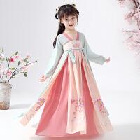 儿童汉服女童古装超仙连衣裙中国风唐装襦裙宝宝复古童装秋