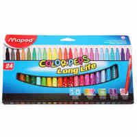 MAPED马培德水彩笔 18 24色绘图涂鸦水彩笔 无毒可水洗