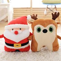 毛绒玩具公仔圣诞玩偶萌可爱女生礼物圣诞老人暖手抱枕插手手捂