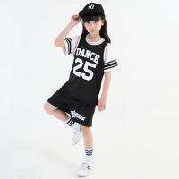 男童宽松篮球背心短裤幼儿嘻哈潮 新款儿童街舞演出服装套装