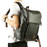 休闲背包双肩包男士时尚潮流旅行包韩版高中大学生书包电脑包 黑色