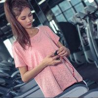 运动上衣女 宽松健身服大码速干T恤圆领透气瑜伽短袖夏季跑步罩衫