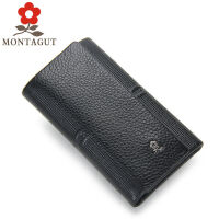 梦特娇Montagut 男士皮钥匙包 多功能礼品时尚新款钥匙扣 女士零钱包卡包