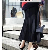针织裙子秋季女韩版学生中长款毛线半身裙女秋冬新款包臀伞裙 均码