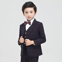秋冬季英伦演出服男保暖厚款 儿童西装套装男童礼服韩版小西服外套
