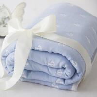 空调毯竹纤维纱布盖毯婴儿纱巾浴巾宝宝夏天被子定制