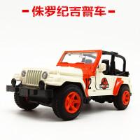 侏罗纪合金车吉普牧马人越野车儿童玩具车仿真合金车模型男孩 侏罗纪吉普盒装
