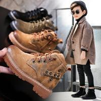 男童鞋冬季新款男孩靴子加绒中大童二棉鞋儿童马丁靴