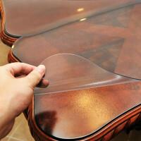 PVC桌布�玻璃磨砂透明餐桌布防水防�C防油免洗桌�|水晶板茶��|