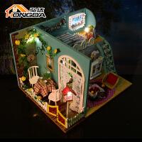 儿童diy小屋手工创意房子模型 建筑别墅生日礼物女