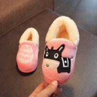 儿童棉拖鞋女冬可爱保暖防滑家居宝宝拖鞋1-3岁室内小公主男童