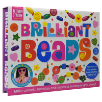 Activity Station 英国原版进口图书 彩色串珠饰品儿童英语手工活动盒 Brilliant Beads 英