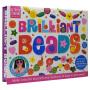 Activity Station 英国原版进口图书 彩色串珠饰品儿童英语手工活动盒 Brilliant Beads 英文绘本教程书+材料包