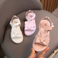 女童凉鞋夏季软底百搭公主鞋儿童时尚沙滩鞋子