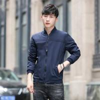 薄款运动棒球领长袖夹克男士衣服 韩版潮流帅气修身休闲外套男士