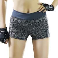 新款女士运动短裤马拉松跑步防走光瑜伽健身运动麻灰热裤