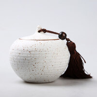 茶叶罐陶瓷茶罐小号普洱密封茶叶盒茶叶包装盒铁盒茶盒茶具父亲节送父亲送朋友