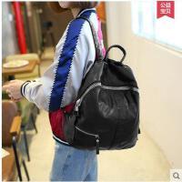 双肩包女韩版学院风 肩韩 时尚休闲女包书包新款包包背包女双 可礼品卡支付