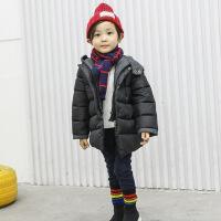 男宝女宝冬装外套儿童宝宝加厚男童袄子冬季女童棉衣黑色冬款