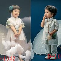 2018秋新款儿童摄影服装2-4岁男女宝国学小古装影楼拍照摄影服饰