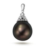 先恩尼珠宝定制 18K金珍珠扣头定制 珍珠吊坠镶嵌 复古典雅