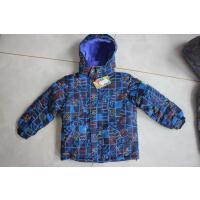 儿童滑雪服上衣 防水透气000滑雪衣男女儿童冲锋衣 蓝色 蓝花