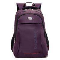 七夕礼物2018新款 电脑双肩背包 商务背包 男女学生双肩休闲包 紫色 16寸