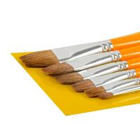 水粉笔油画丙烯画笔排笔刷绘美术6支装