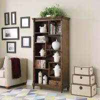 【限时直降3折】美式古典实木书柜 复古书房小书柜卧室储物展示柜子
