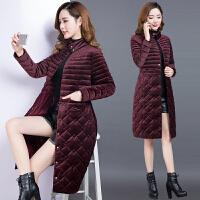 棉衣女中长款2017冬季新款韩版金丝绒中年收腰羽绒棉袄外套潮