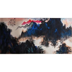 D-1-24  刘海粟  黄山松云
